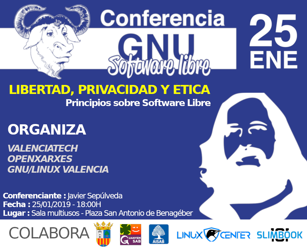 cartel charla software libre